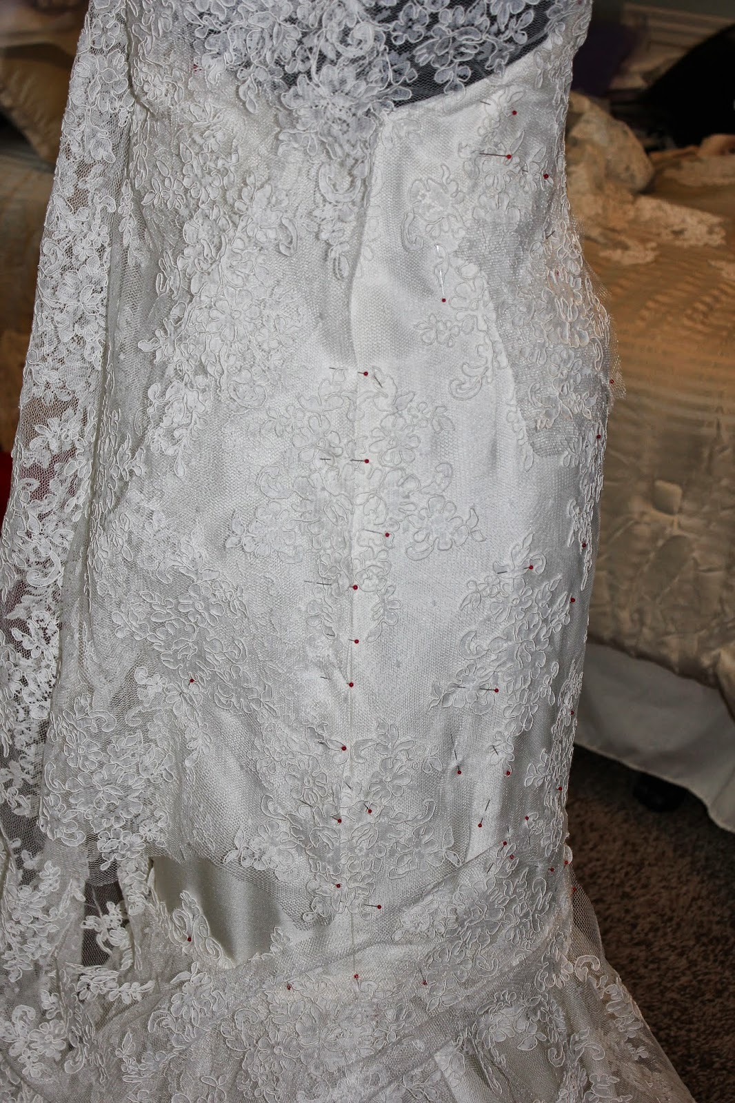 sewn threads: The birth of a wedding gown