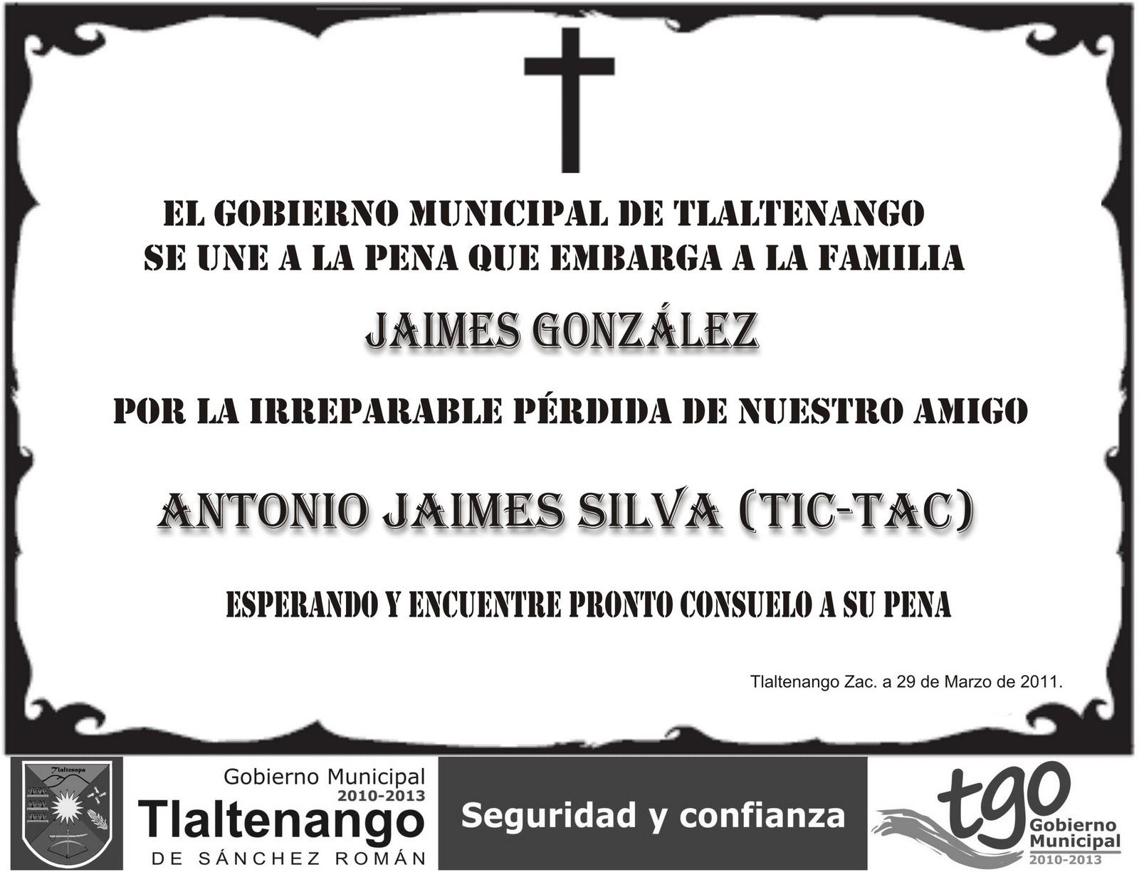Gobierno Municipal de Tlaltenango sept2010- dic2011: marzo 2011
