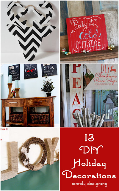 13 Holiday DIY Decorations | Simply Designing | #holiday #diy #christmas