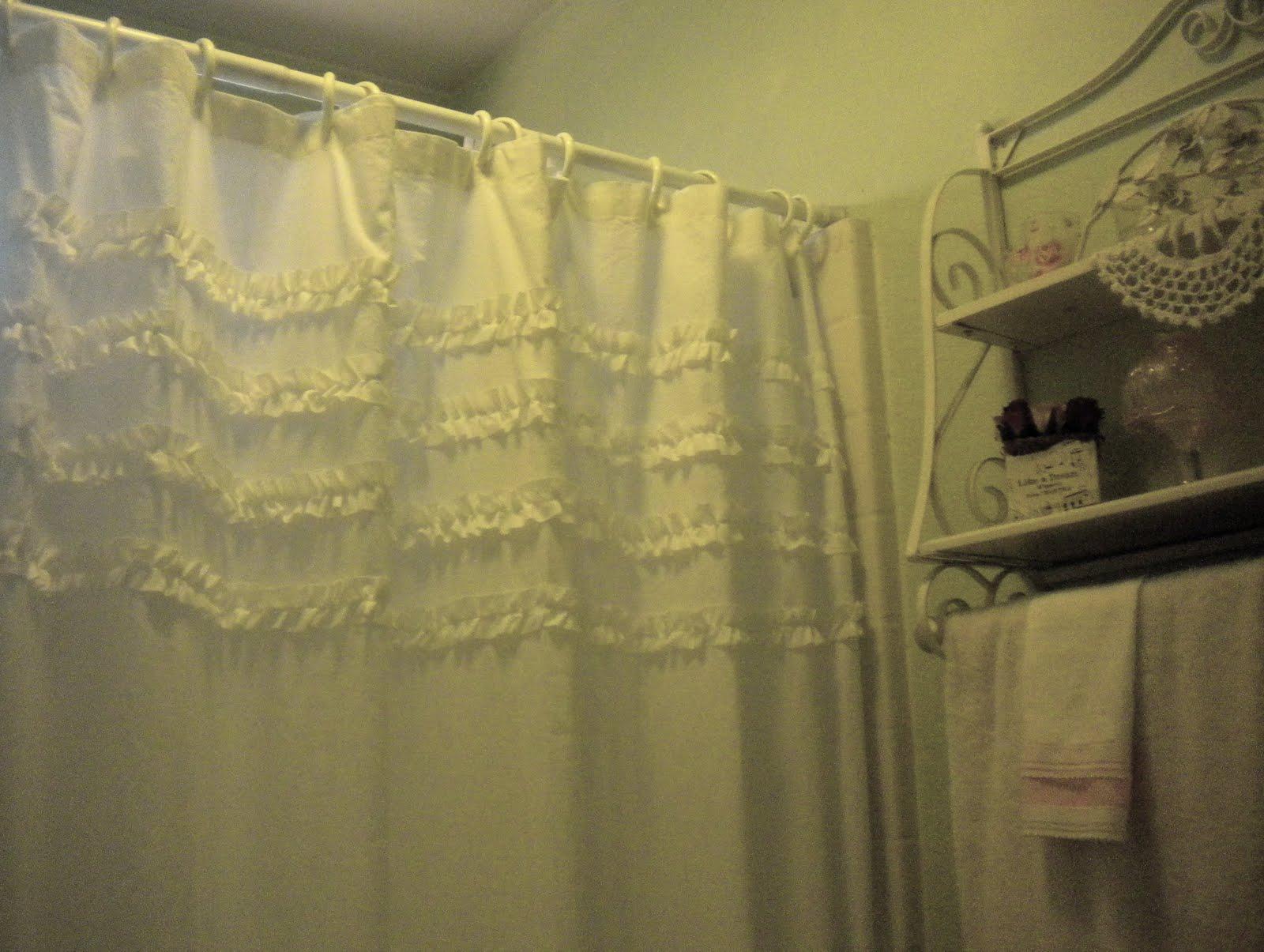 Shabby Chic Inspired Shower Curtain