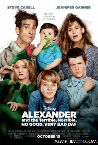 Alexander và Một Ngày Tồi Tệ, Kinh Khủng, Chán Nản, Bực Bội Full HD HD Vietsub