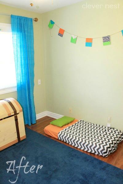 bright, nautical boy's room reveal #ocean #diy