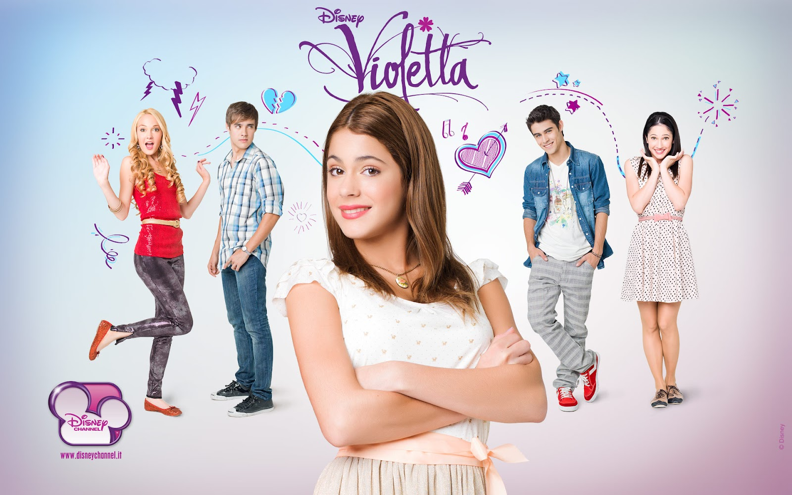 Coloriage Violetta, une fille adolescente avec talent musical  - coloriage violetta a colorier