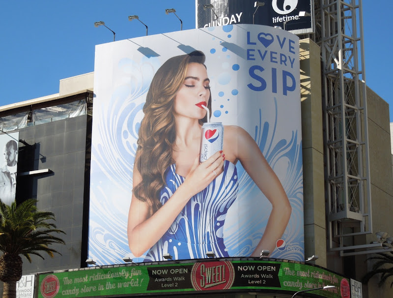 Sofia Vergara Love every sip Pepsi billboard