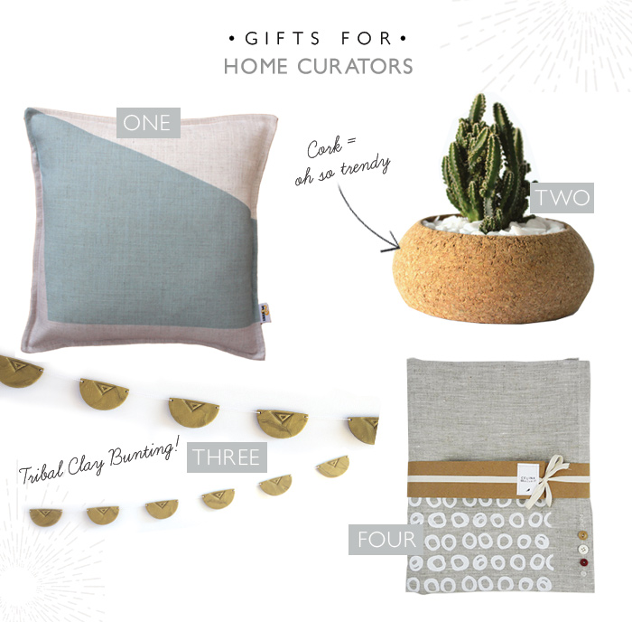 pillows, cork, planter, succulent, cactus, bunting, clay, tablecloth, linen