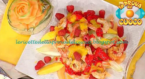 Insalata di gamberi alla frutta fresca ricetta Barzetti da Prova del Cuoco