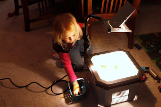 Our Unusual Light Table and School Week Wrap Up