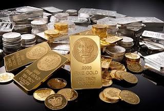 gold silver metals