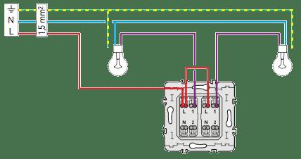 Sch ma lectrique double allumage sch mas lectriques - Brancher un interrupteur double ...