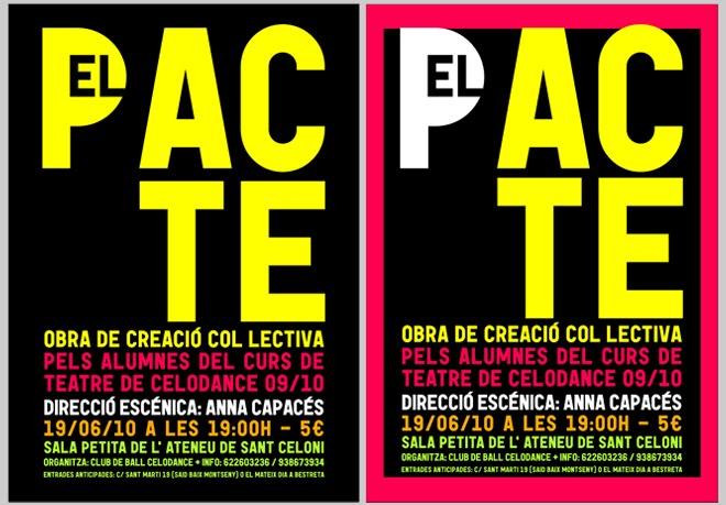 "Cartel para la obra de teatro ""El Pacte"" 2010"