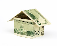 house made from fifty dollar bills