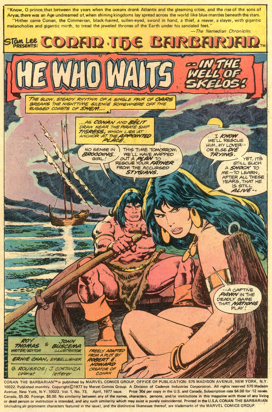 Conan the Barbarian (1970) Issue #73 #85 - English 2