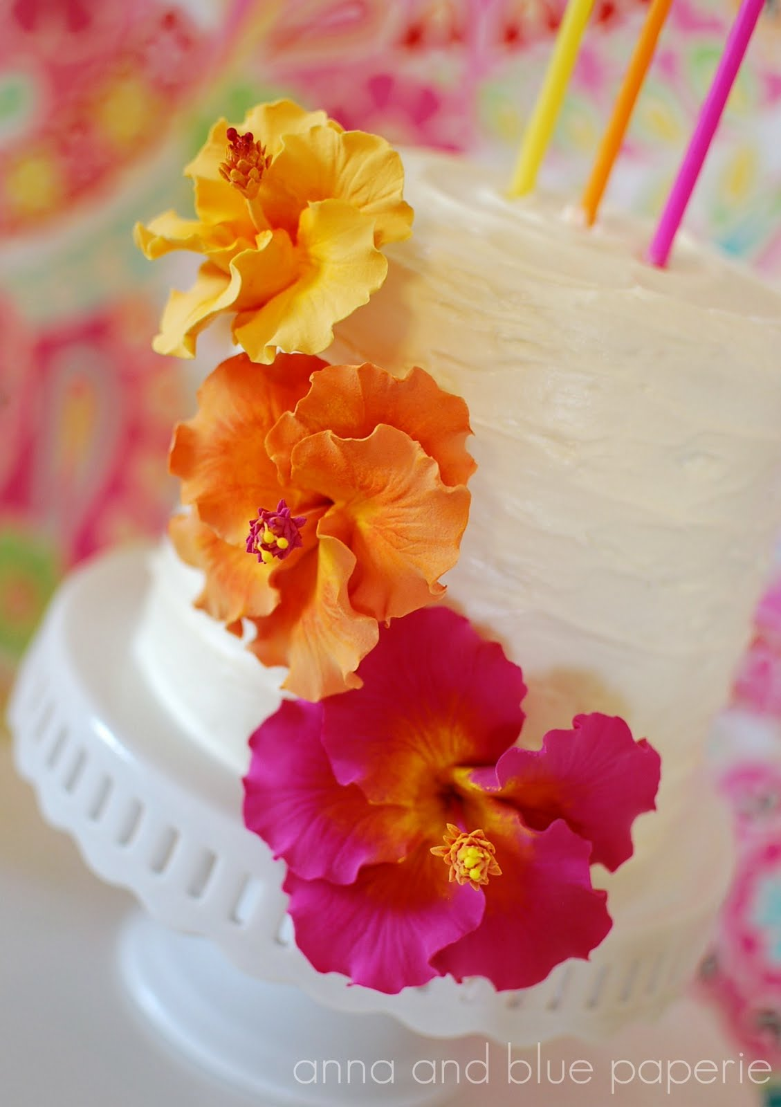 Anna and blue paperie sneak peek the aloha summer birthday cake ive received a few emails in regards to how the birthday cake turned out for annabelle and madeleines aloha summer party i thought i would give a little izmirmasajfo