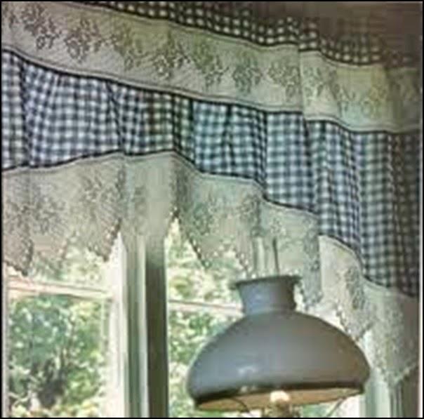 Linda idea para hacer una cortina con puntilla al crochet - Hacer una manta de ganchillo ...