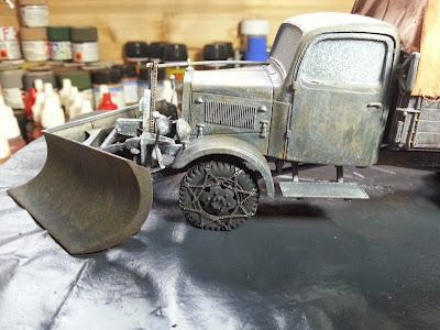 Mercedes L3000 with snow plow: Part 1. 20140102_084732