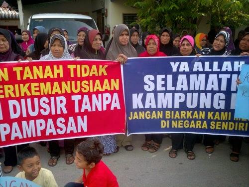 90 Keluarga 200 Penduduk Bakal DIHALAU Keluar Dari Kampung Di Penang