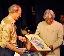 Presentation of Caricature to Dr. Shri APJ abdul Kalalam at Cartoon Festival -2011