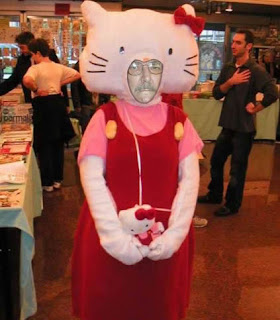 Hello Kitty weird man Halloween costume