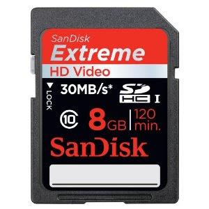 Sandisk SDHC Card Extreme III 8 GB Class 10 bei Amazon für 8,50 Euro inklusive Versandkosten