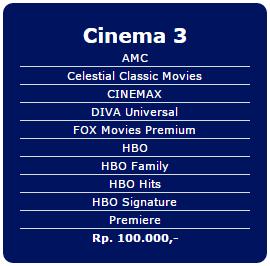 Paket tambahan Indovision terbaru Cinema 2 Rp 100.000/bln