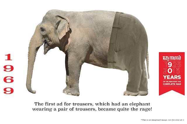 Raymond 1925 - 2015 Elephant wearing trousers