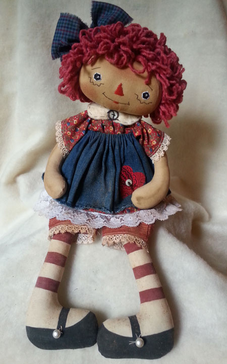 Red Floral Annie #6