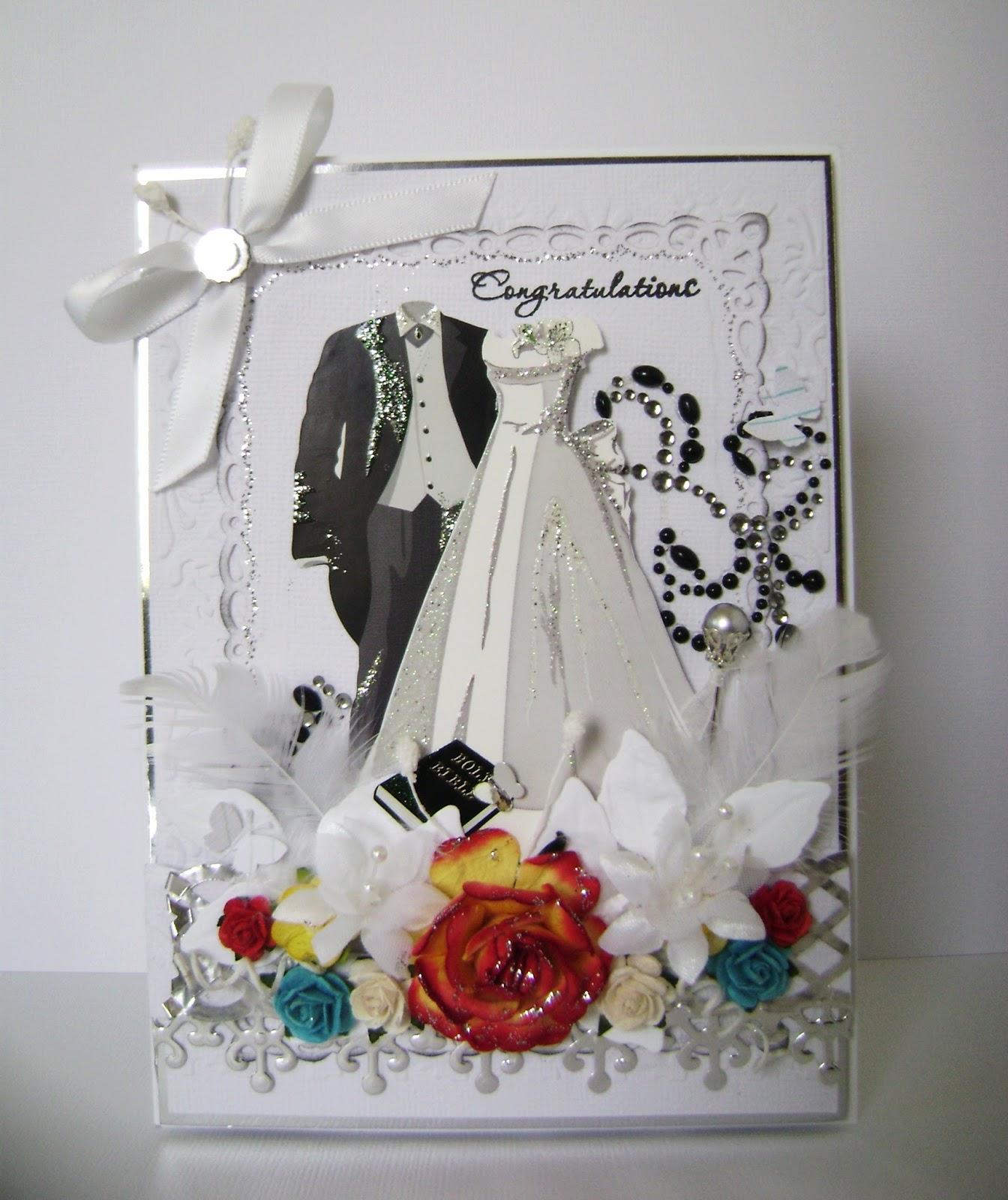 Creative Bug on the Loose: Wedding Card using Spellbinders/ Update ...