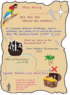 Pirate-themed Birthday Party Invite