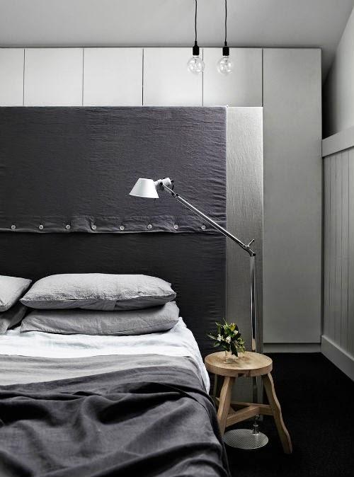 Schlafzimmer in Grautönen