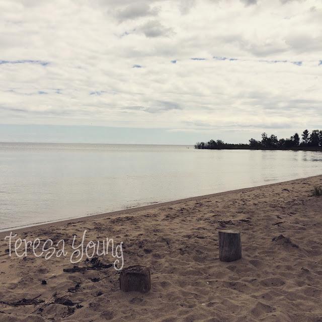 Door County Sturgeon Bay Wisconsin Portage Park beach serene Lake Michigan
