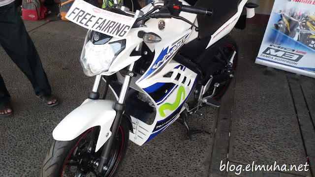 Yamaha New Vixion Advance Modifikasi Half Fairing