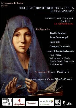 READING POETICO, MOSTRA D'ARTE E CONCERTO AL FELTRINELLI POINT