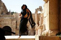 Anushka navel in Saree Hot Photos
