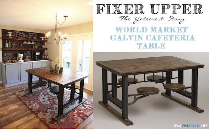 Fixer Upper / World Market Galvin Cafeteria Table