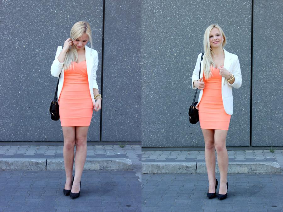 Brzoskwiniowa Sukienka Polskieszafiarki Pl I Najlepsze Blogi Blogi Modowe Zakladanie Bloga I Najciekawsze Blogi W Sieci
