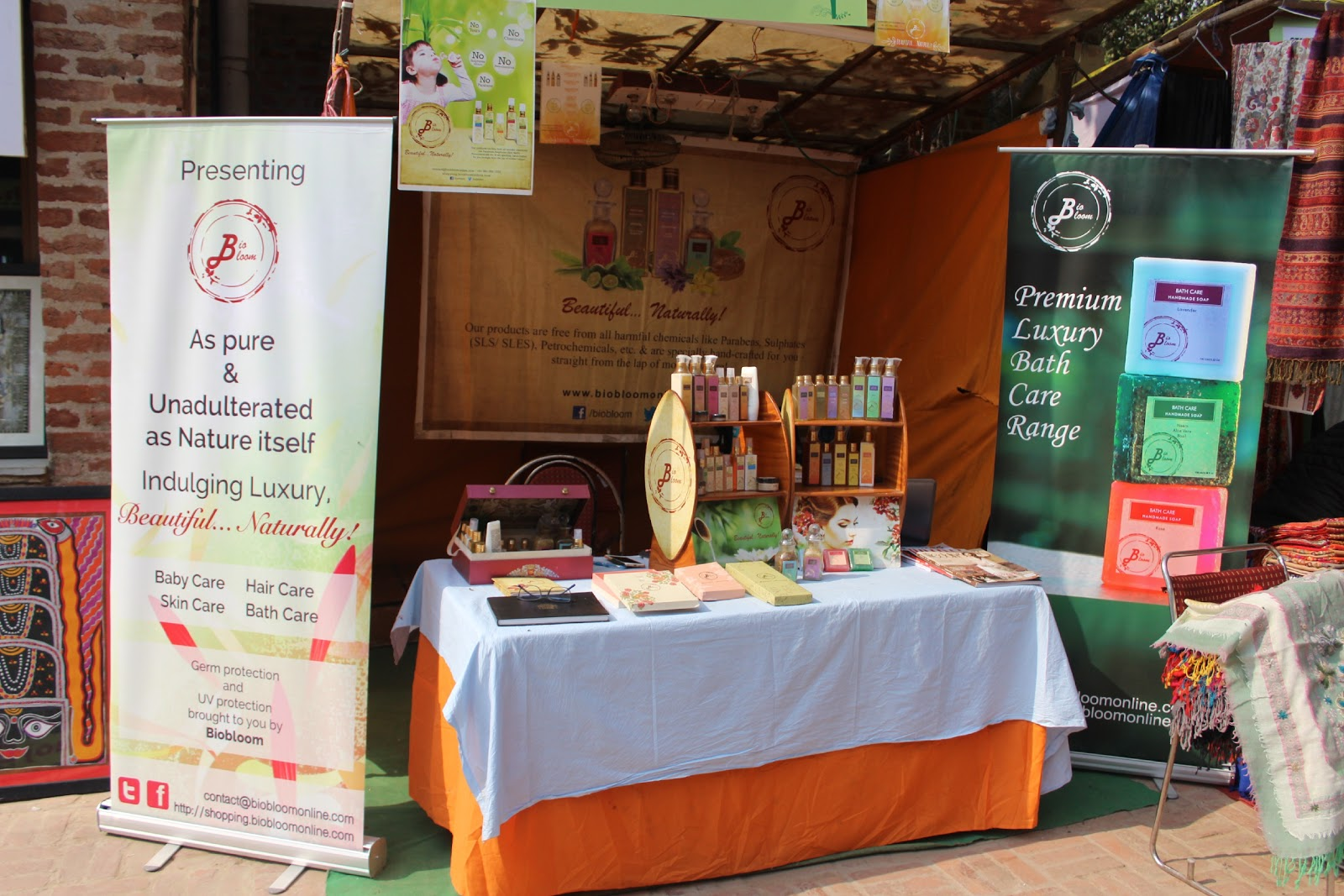 """BioBloom participates in """"The Women of India Exhibition 2015"""" by the Ministry of Women & Child Development 
