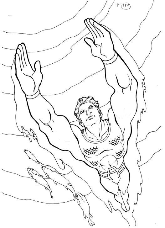 aquaman symbol coloring pages - photo#12