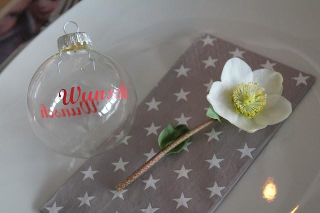 Tischdeko Weihnachten Wunschkugel