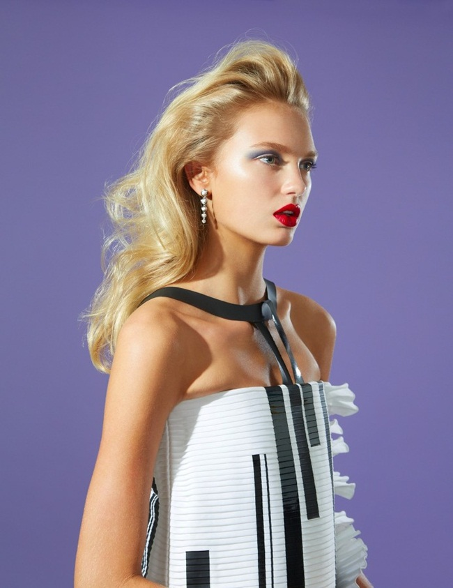Chanel 2015 SS Piano Key-Print Cocktail Dress Editorials