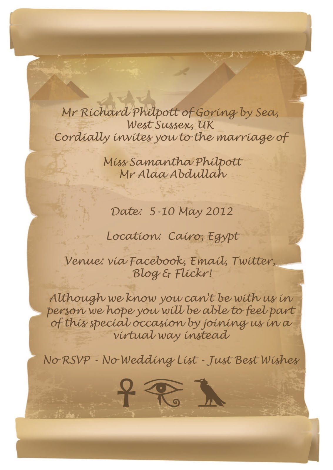 egyptian wedding not long now life by the nile in luxor With wedding invitations cards egypt