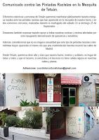 Comunicado contra las Pintadas Racistas en la Mezquita de Tetuán
