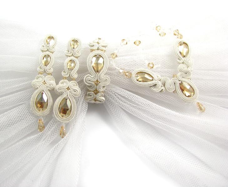 Komplet ślubny sutasz ivory