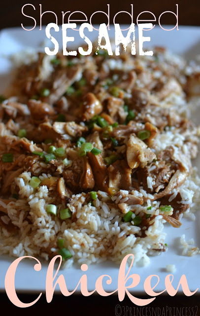 Slowcooker recipes - Shredded Sesame Chicken