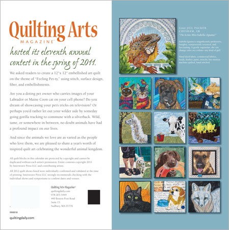 february 2012 calendar. The 2012 Quilting Arts