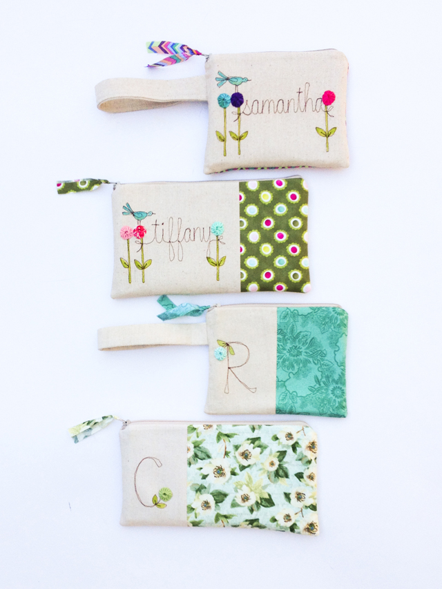 Personalized Clutches and Wristlets by Mama Bleu Designs