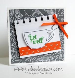 Stampin' Up! July 2015 Paper Pumpkin Thanks a Latte Tea Bag Holder TUTORIAL #stampinup #paperpumpkin www.juliedavison.com