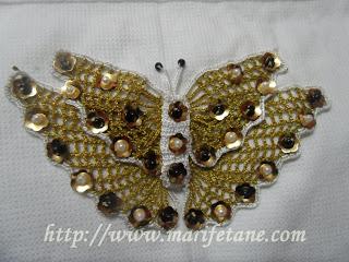 Kelebek Dantelli Yeni Havlu Kenari Modeli