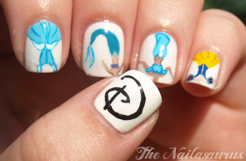 Once Upon A Time Disney Princess Nail Art Ideas