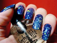 Galaxy Nail azul