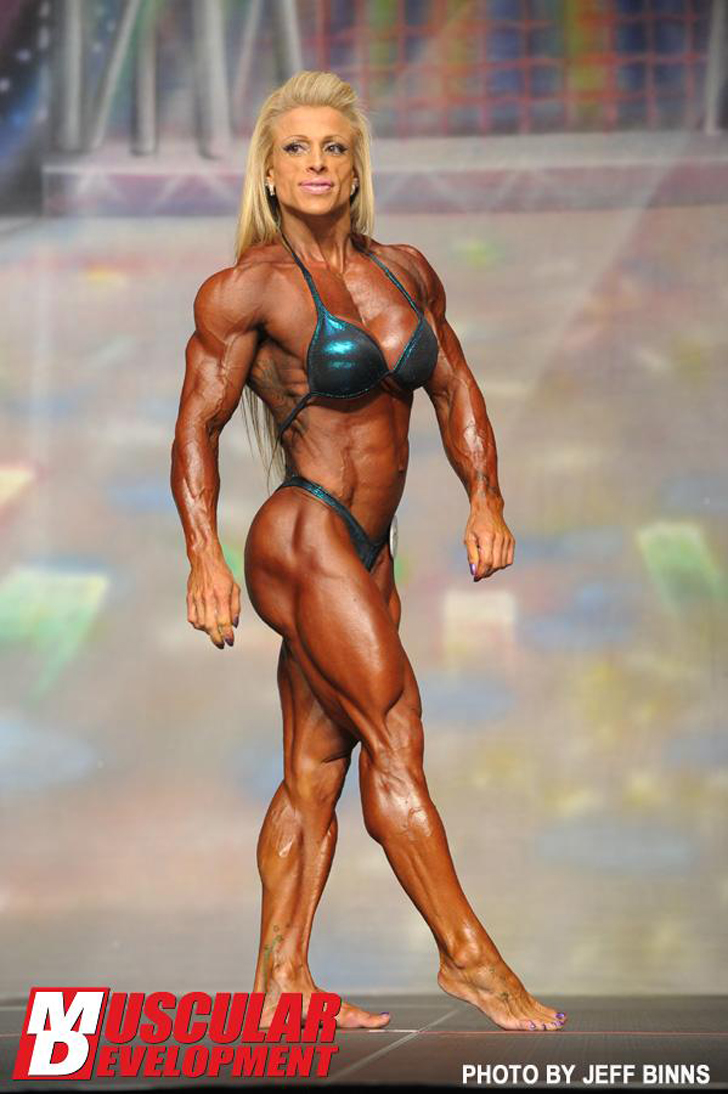 Anne Freitas Posing Her Shredded Physique At The 2012 Europa Battle Of Champions